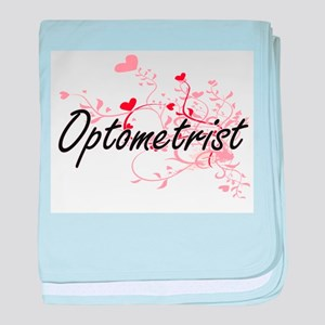 Optometrist Artistic Job Design with baby blanket