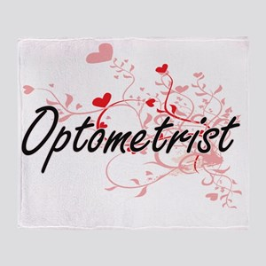 Optometrist Artistic Job Design with Throw Blanket