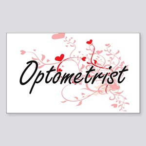 Optometrist Artistic Job Design with Heart Sticker