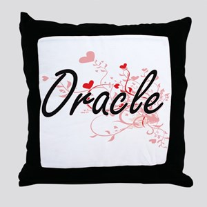 Oracle Artistic Job Design with Heart Throw Pillow