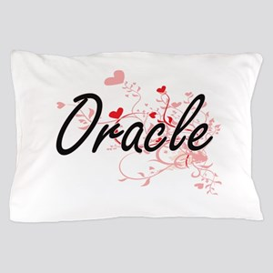 Oracle Artistic Job Design with Hearts Pillow Case