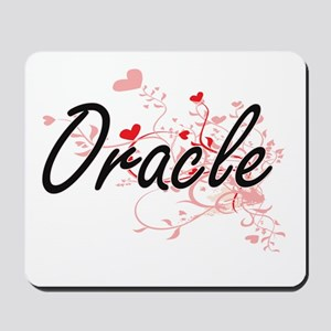 Oracle Artistic Job Design with Hearts Mousepad