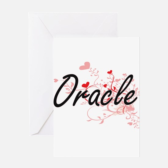 Oracle Artistic Job Design with Hea Greeting Cards