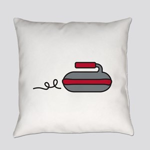 Curling Rock Everyday Pillow