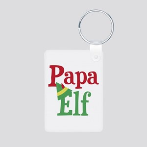 Papa Elf Aluminum Photo Keychain