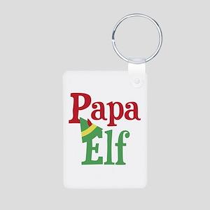 Papa Elf Aluminum Photo Keychain