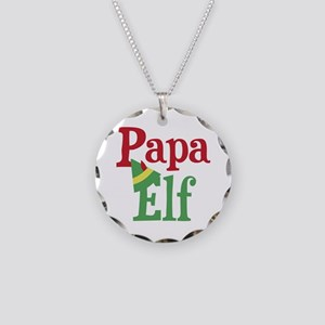 Papa Elf Necklace Circle Charm