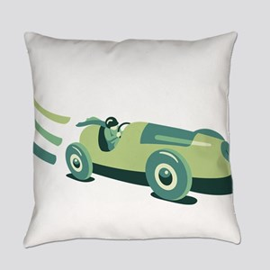 Vintage Race Car Everyday Pillow