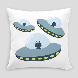 UFO Spacecrafts Everyday Pillow