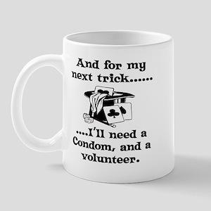 Condom and a volunteer Mug