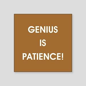 GENIUS IS PATIENCE! Sticker