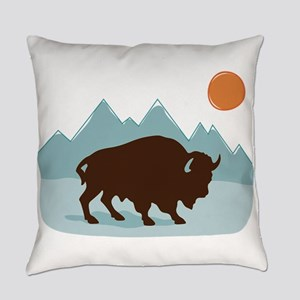 Buffalo Mountains Everyday Pillow