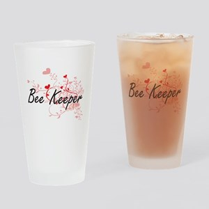 Bee Keeper Artistic Job Design with Drinking Glass