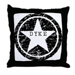 Dyke Star Throw Pillow