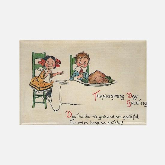 vintage thanksgiving Magnets