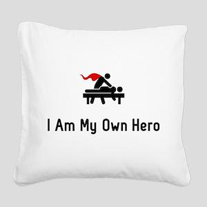Massage Hero Square Canvas Pillow