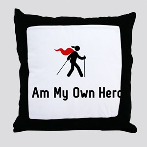 Nordic Walking Hero Throw Pillow