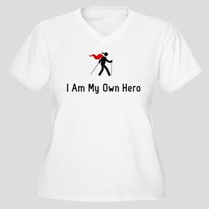 Nordic Walking He Women's Plus Size V-Neck T-Shirt