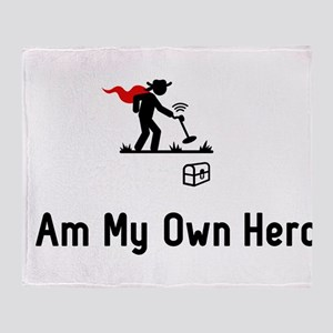Metal Detecting Hero Throw Blanket