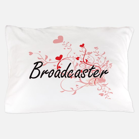 Broadcaster Artistic Job Design with H Pillow Case