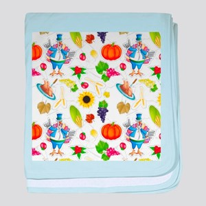 funny thanksgiving baby blanket