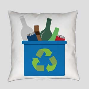 Full Recycle Bin Everyday Pillow