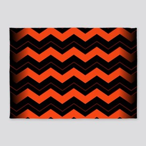 Chevron Orange Area Rugs Cafepress
