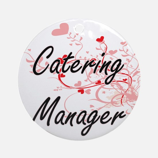Catering Manager Artistic Job Desig Round Ornament