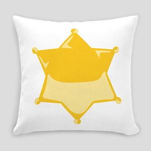 Sheriff Badge Everyday Pillow