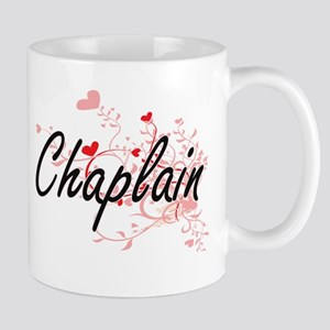 Chaplain Artistic Job Design with Hearts Mugs