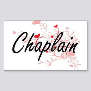 Chaplain Artistic Job Design with Hearts Sticker