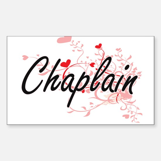 Chaplain Artistic Job Design with Hearts Decal