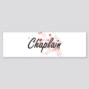 Chaplain Artistic Job Design with H Bumper Sticker