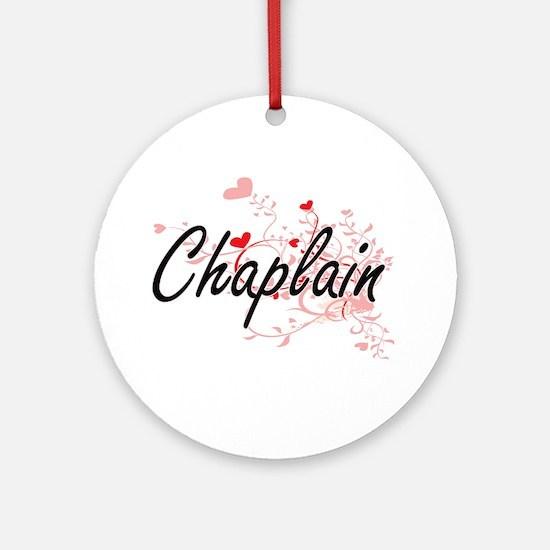 Chaplain Artistic Job Design with H Round Ornament