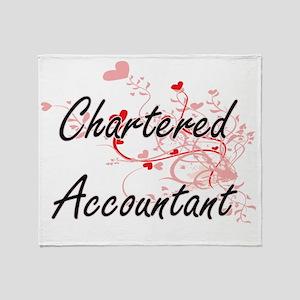 Chartered Accountant Artistic Job De Throw Blanket