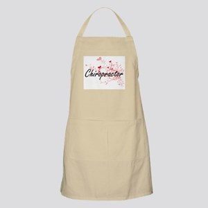 Chiropractor Artistic Job Design with Hearts Apron