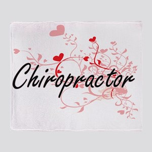 Chiropractor Artistic Job Design wit Throw Blanket