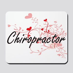 Chiropractor Artistic Job Design with He Mousepad