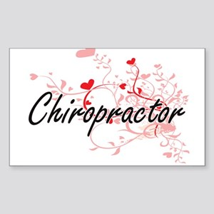 Chiropractor Artistic Job Design with Hear Sticker