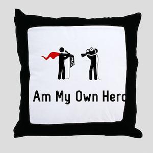 Reporting Hero Throw Pillow