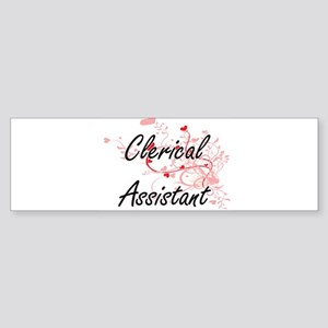 Clerical Assistant Artistic Job Des Bumper Sticker
