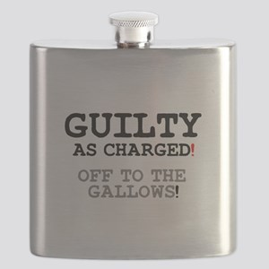 GUILTY AS CHARGED - OFF TO THE GALLOWS! Flask