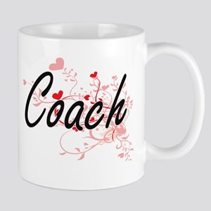 Coach Artistic Job Design with Hearts Mugs