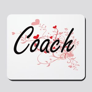 Coach Artistic Job Design with Hearts Mousepad