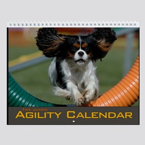 Small Agility Dog Tire Jump Wall Calendar