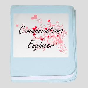 Communications Engineer Artistic Job baby blanket