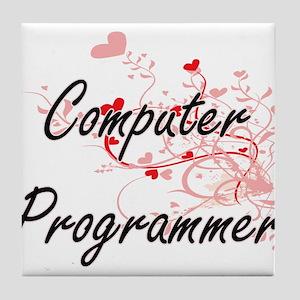 Computer Programmer Artistic Job Desi Tile Coaster