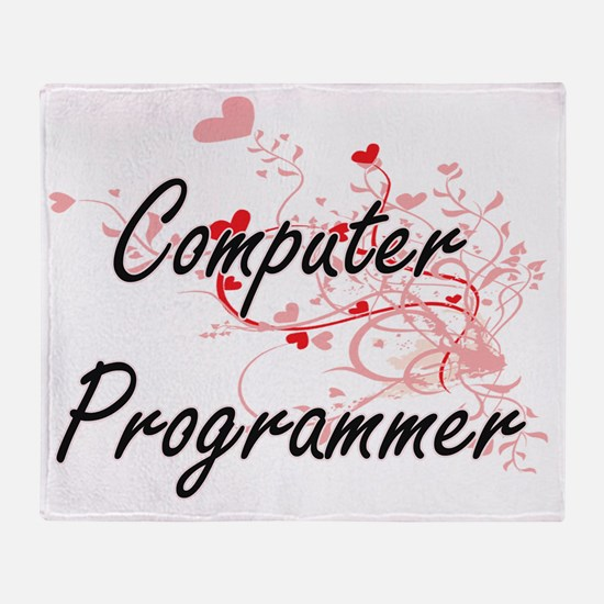 Computer Programmer Artistic Job Des Throw Blanket