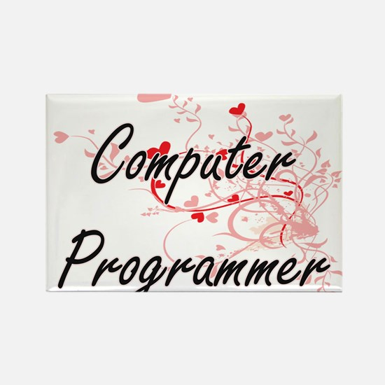 Computer Programmer Artistic Job Design wi Magnets