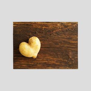 Heart shaped potato 5'x7'Area Rug